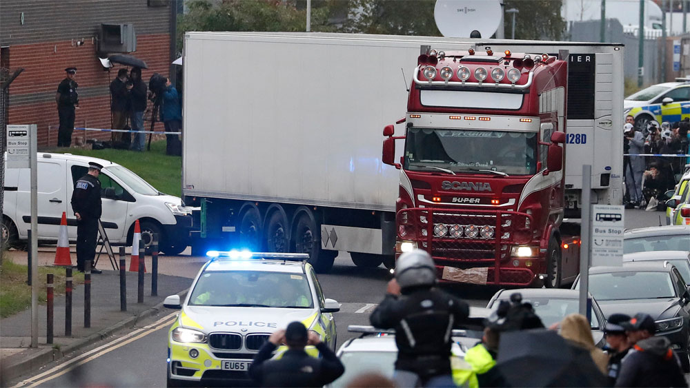 39 truck deaths, UK, Vietnamese Embassy, citizen protection measures, Waterglade industrial park, British crime prevention agency