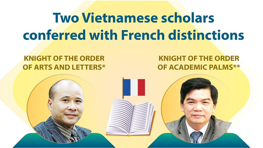 Two Vietnamese scholars conferred with French distinctions