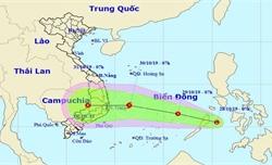 Xuất hiện vùng áp thấp gần biển Đông khả năng mạnh lên thành bão
