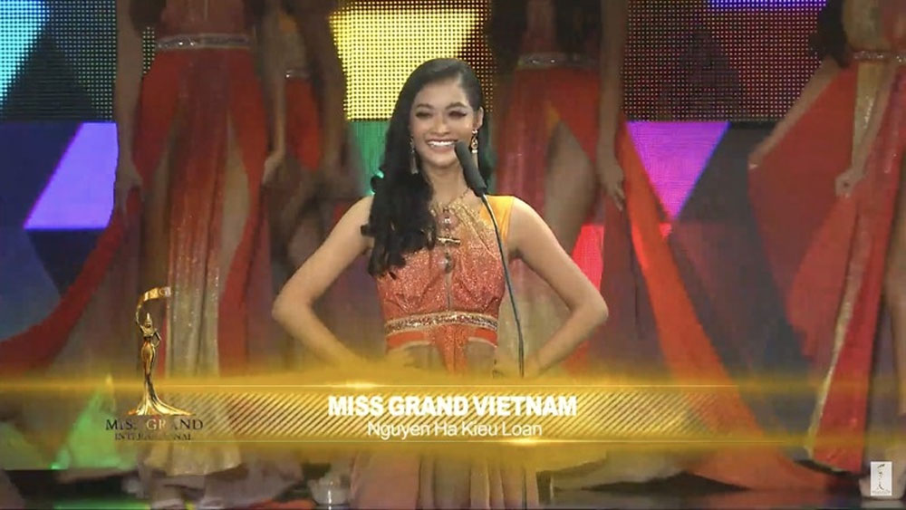 Vietnam, Kieu Loan, Miss Grand Int'l 2019, top ten, Vietnam representative, positive impression, biggest beauty pageants