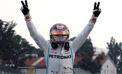 Hamilton đến gần chức vô địch sau chiến thắng ở Mexico
