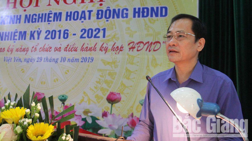Việt Yên: Trao đổi kinh nghiệm hoạt động HĐND các cấp