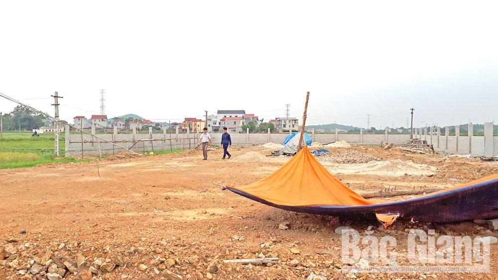 Bắc Giang,  doanh nghiệp, đổ đất, san nền, làm cây xăng, xã Trung Sơn, Việt Yên