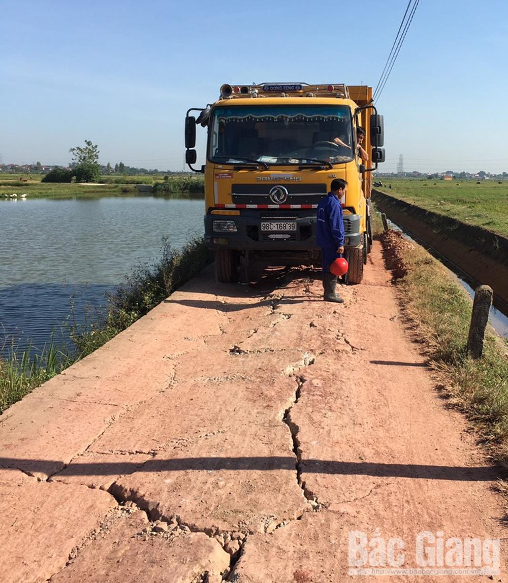 xe chở đất, quá tải, Bắc Giang, Hiệp Hòa