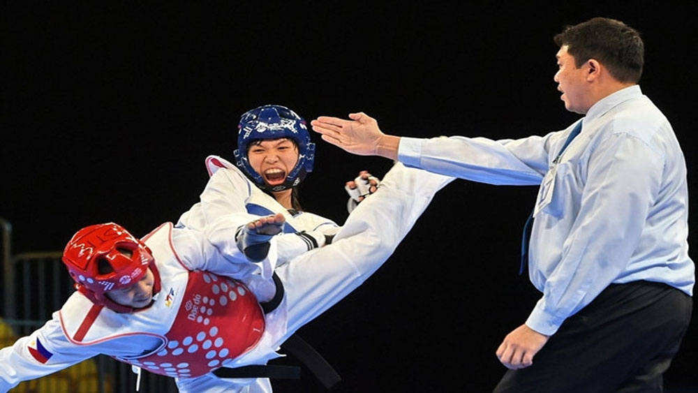 Vietnamese taekwondo fighter, Olympic hopes, two int'l gold medals, Truong Thi Kim Tuyen,  2020 Tokyo Olympics