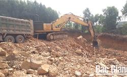 Công ty cổ phần Tư vấn và Xây dựng Hoàng Long:  Nhiều vi phạm trong khai thác đất san lấp mặt bằng