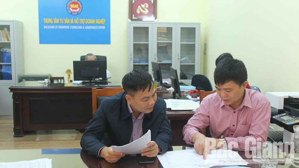 tư vấn hỗ trợ cho 50 doanh nghiệp, Trung tâm Tư vấn và Hỗ trợ DN tỉnh Bắc Giang, tư vấn, hỗ trợ, doanh nghiệp