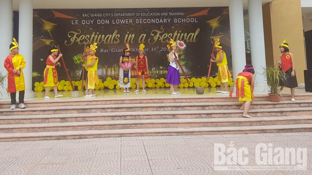 Trường THCS Lê Quý Đôn tổ chức Ngày hội Tiếng Anh về lễ hội truyền thống