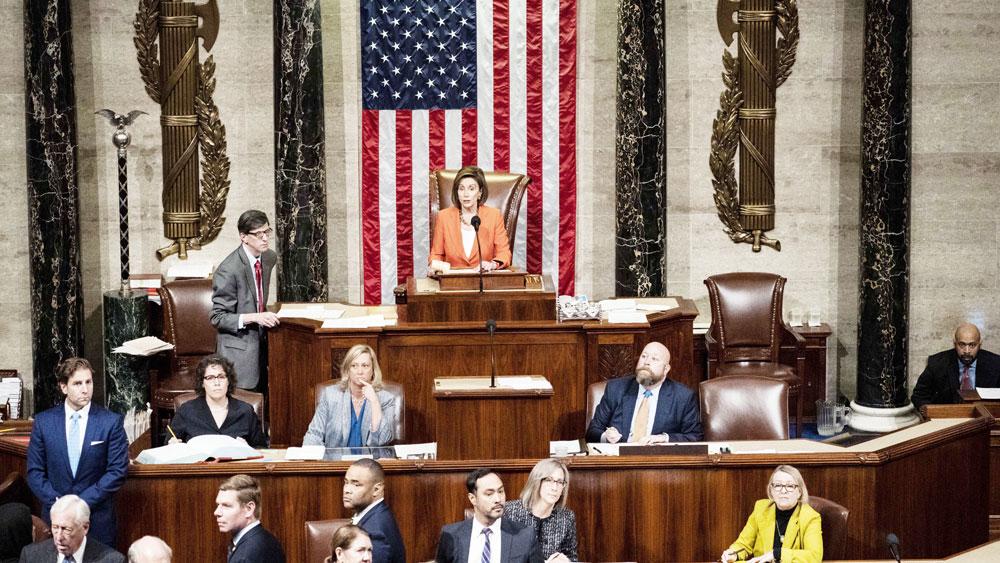 Hạ viện Mỹ , thông qua nghị quyết,  thủ tục điều tra luận tội đối với Tổng thống