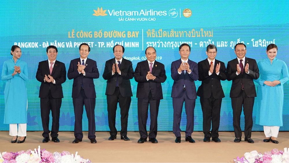 Thủ tướng, Lễ khai trương, các đường bay mới đến Thái Lan