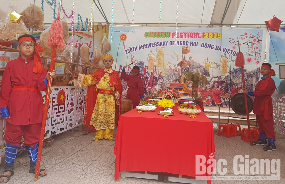 English festival, traditional holidays, Le Quy Don Secondary School, Bac  Giang province, Festivals in a festival, English speaking