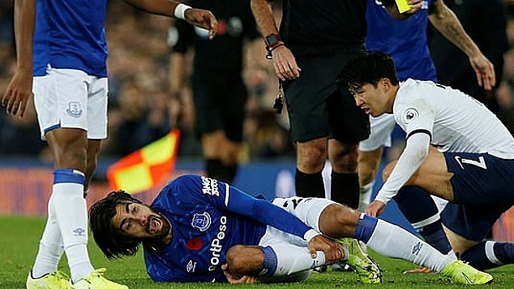 Andre Gomes, Everton, Tottenham, Ngoại hạng Anh, Son Heung min