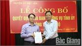 Bắc Giang: Đồng chí Nguyễn Văn Dũng giữ chức Phó Bí thư Huyện ủy Việt Yên