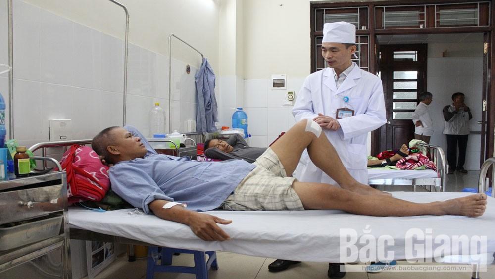Chấn thương thể thao, nhập viện, bệnh viện đa khoa, Bắc Giang