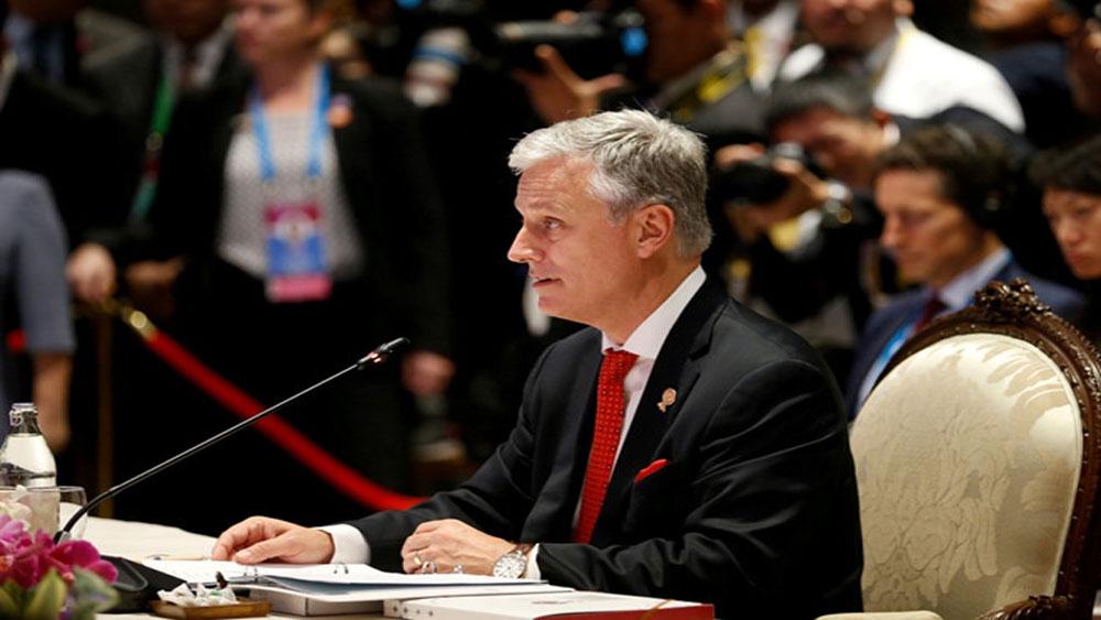 Hội nghị Cấp cao ASEAN 35, Mỹ, chỉ trích, Trung Quốc, cản trở, tiếp cận nguồn dầu khí ở Biển Đông
