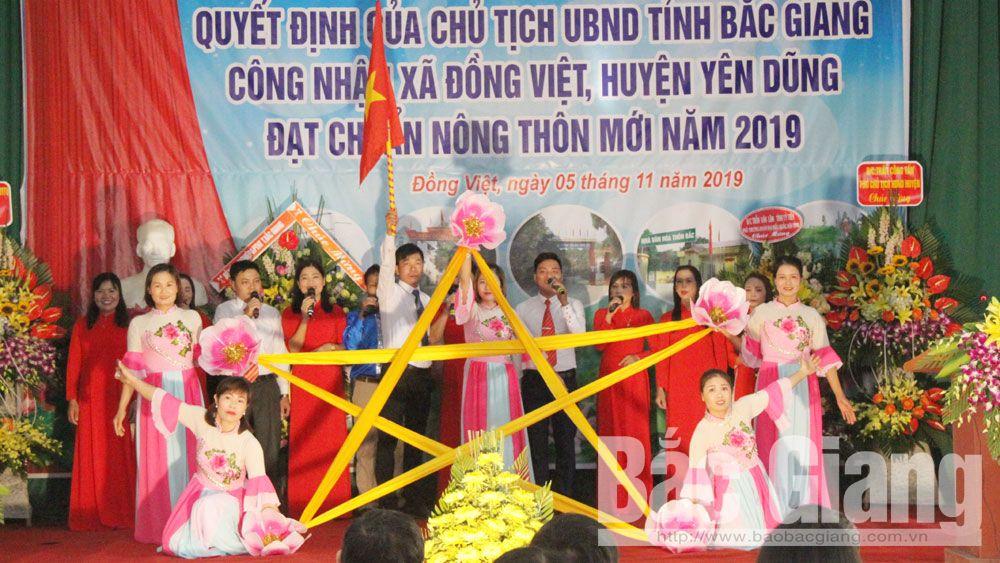 Xã Đồng Việt, Yên Dũng, Bắc Giang, chuẩn nông thôn mới, nông thôn mới.