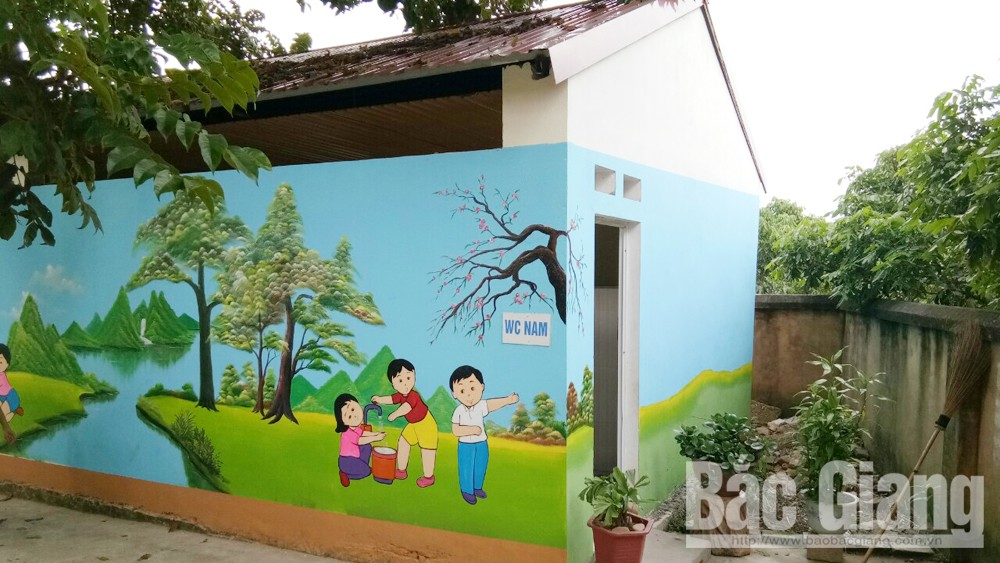 Lục Nam, xây nhà vệ sinh, trường học, bắc giang, giáo dục, Tiểu học Lục Sơn