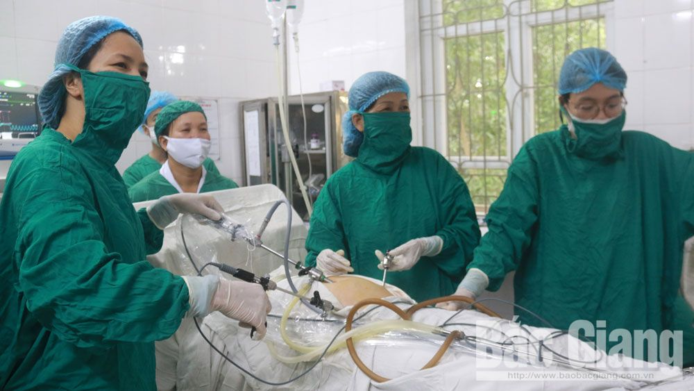 Lobectomy of lung transferred to Bac Giang provincial General Hospital