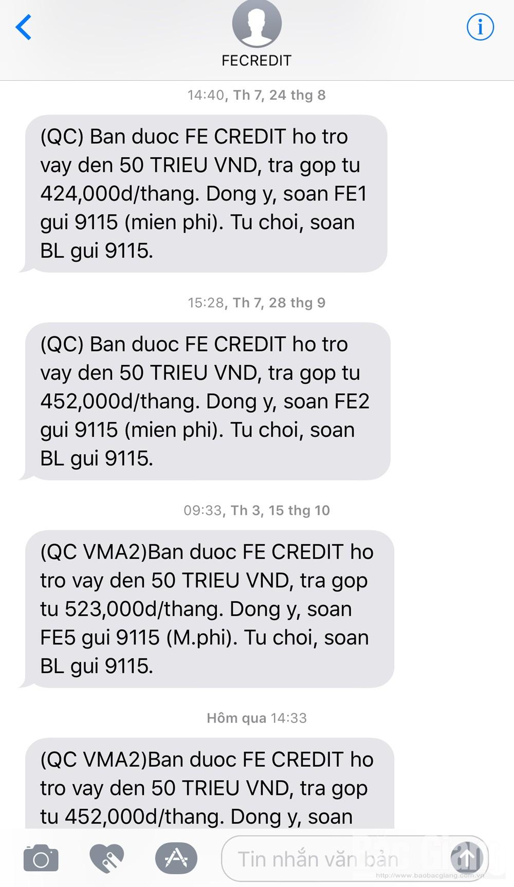 Tin nhắn rác, xử lý tin nhắn rác, sin rác, phiền hà tin nhắn rác, Sở Thông tin và Truyền thông Bắc Giang