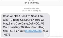 Phiền toái vì tin nhắn rác