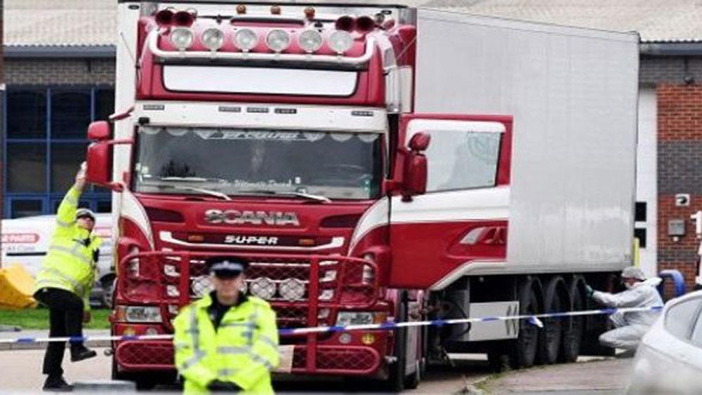Bộ Công an, thông tin, vụ việc 39 nạn nhân thiệt mạng trong container tại Anh