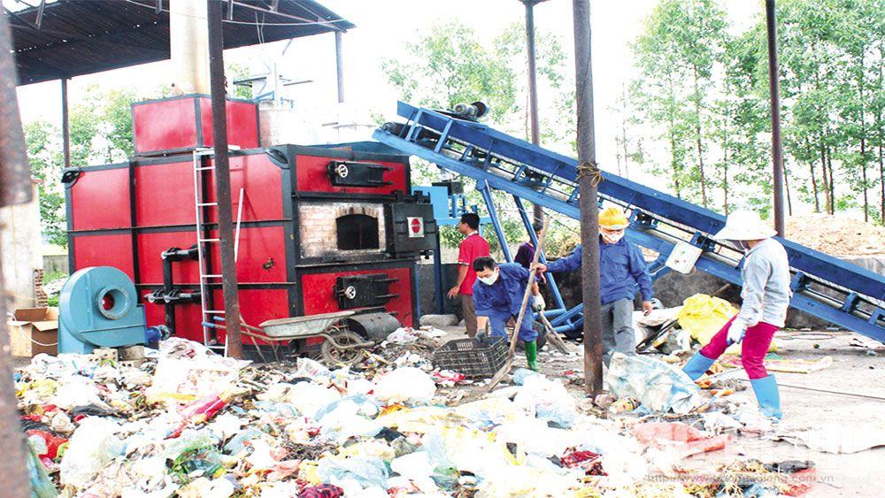rác thải, xử lý rác, thu gom rác, Bắc Giang
