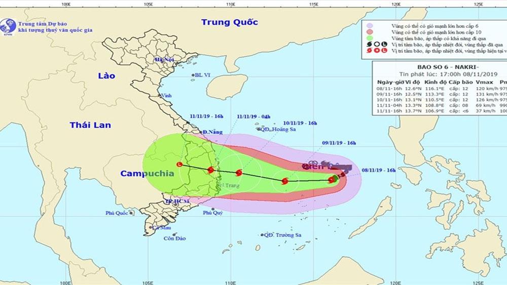 Thủ tướng Chính phủ, chỉ đạo, ứng phó khẩn cấp, bão số 6 Nakri