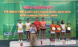 Kết thúc Giải Quần vợt vô địch trẻ xuất sắc toàn quốc: Bắc Giang giành 4 huy chương