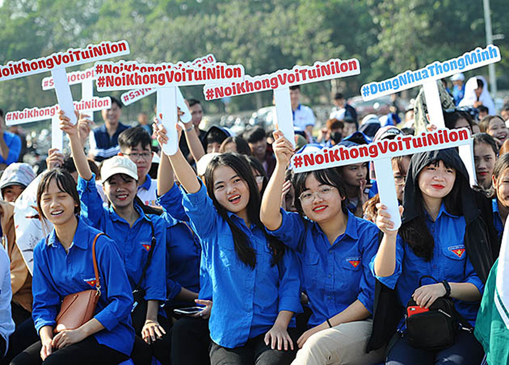 Bac Ninh province, No-plastic market, Youth against plastic waste, practical activities, effective models