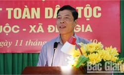 Bí thư Tỉnh ủy Bùi Văn Hải dự Ngày hội Đại đoàn kết toàn dân tộc tại huyện Lục Ngạn