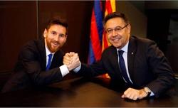 """Bartomeu: """"Messi sẽ chơi thêm năm năm cho Barca"""""""