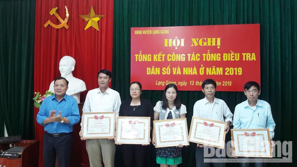 Lạng Giang (Bắc Giang) tổng kết công tác tổng điều tra dân số và nhà ở