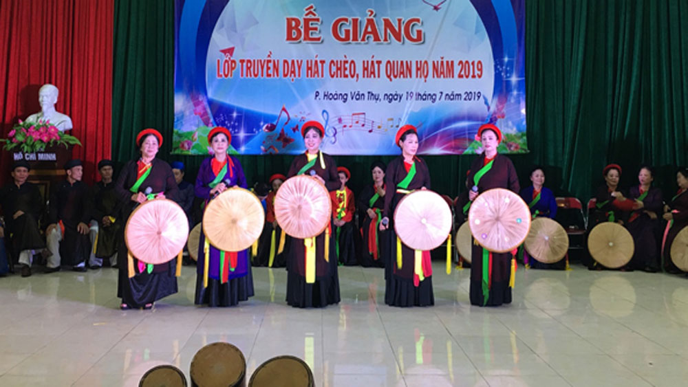 Teaching Cheo, Quan ho singing, art talents, Bac Giang province, grass root art talents, traditional cultural value