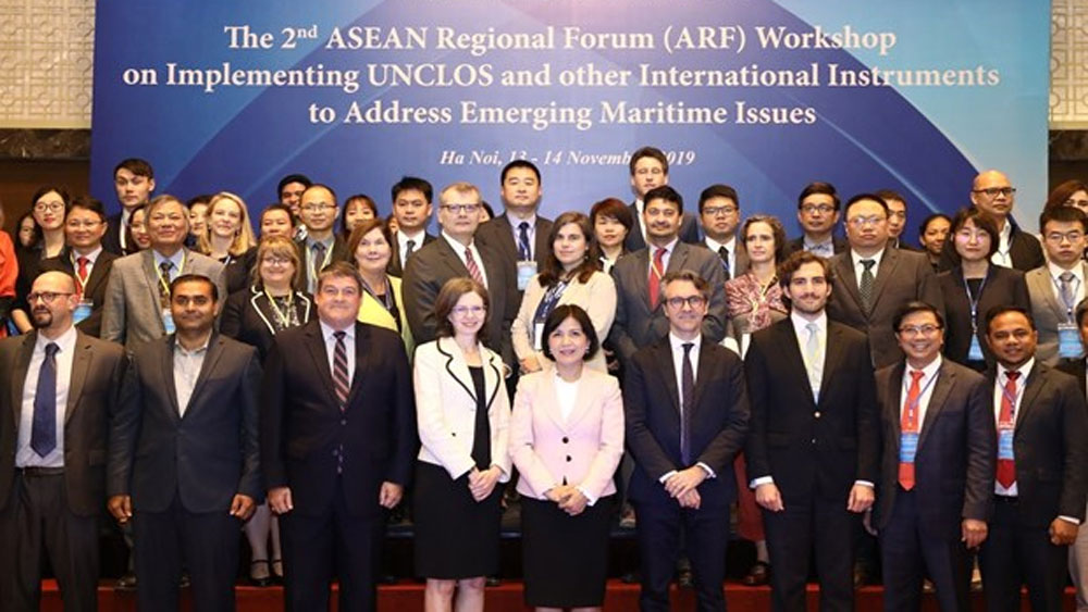 UNCLOS, important legal instrument, maritime issues, legitimate rights, ASEAN Regional Forum, dialogue partners, sea and ocean governance