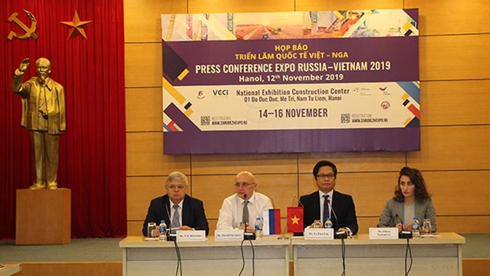 Expo Vietnam-Russia 2019, Vietnamese and Russian enterprises, latest products, long-standing strategic economic partner, free trade agreement
