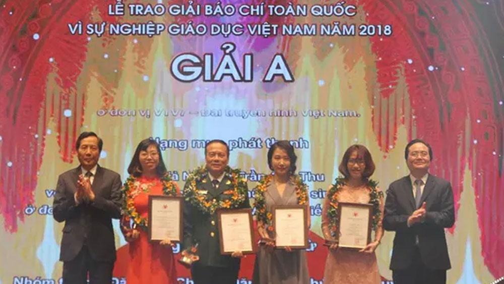 """44 tác phẩm xuất sắc đoạt Giải Báo chí toàn quốc """"Vì sự nghiệp Giáo dục Việt Nam"""""""