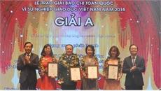 44 tác phẩm xuất sắc đoạt Giải Báo chí toàn quốc 'Vì sự nghiệp Giáo dục Việt Nam'