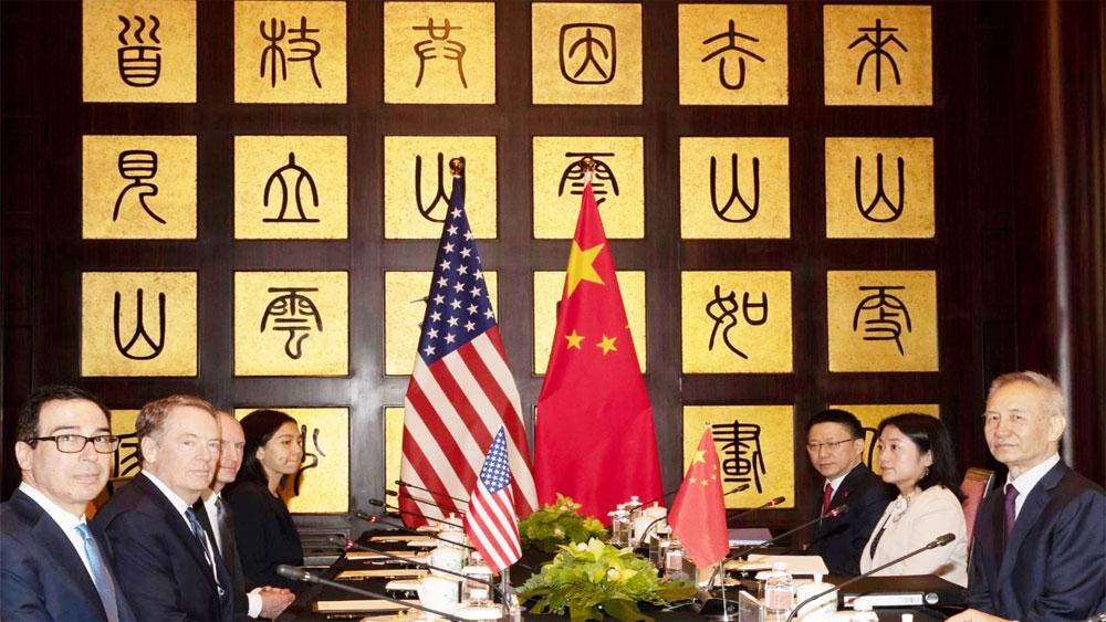 Nhà Trắng, Thỏa thuận thương mại một phần Mỹ - Trung, ký kết ở cấp bộ trưởng