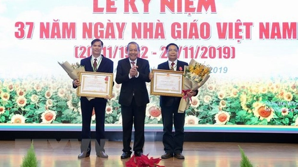 Deputy PM, Teachers's Day, Vietnam National University of Agriculture, great achievements, high-quality lecturers