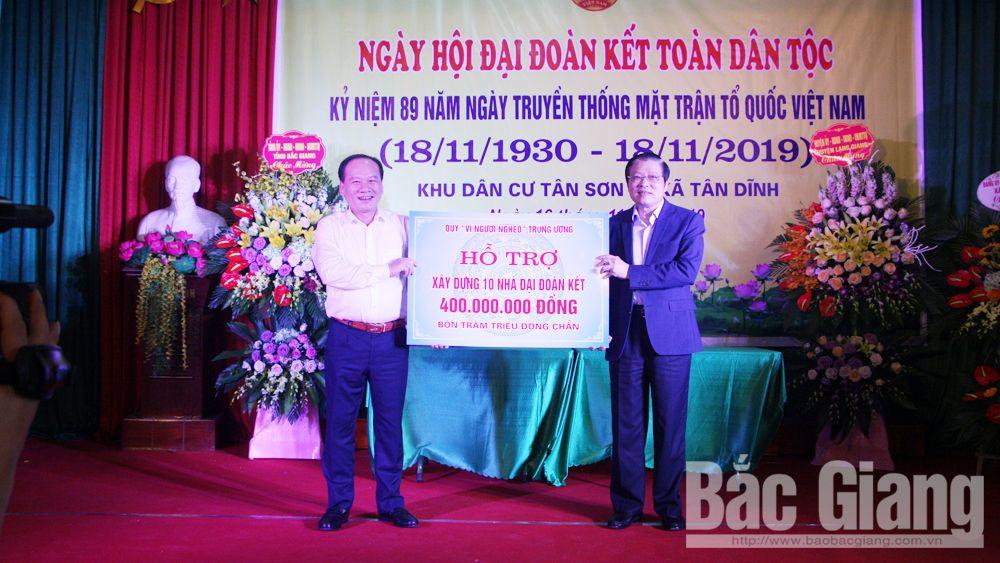 Ngày hội đoàn kết, MTTQ, đồng chí Phan Đình Trạc, đồng chí Bùi Văn Hải, huyện Lạng Giang