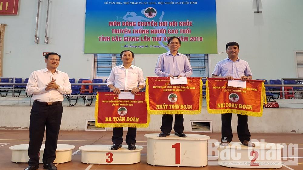 Bắc Giang , Giải bóng chuyền hơi, người cao tuổi, năm 2019