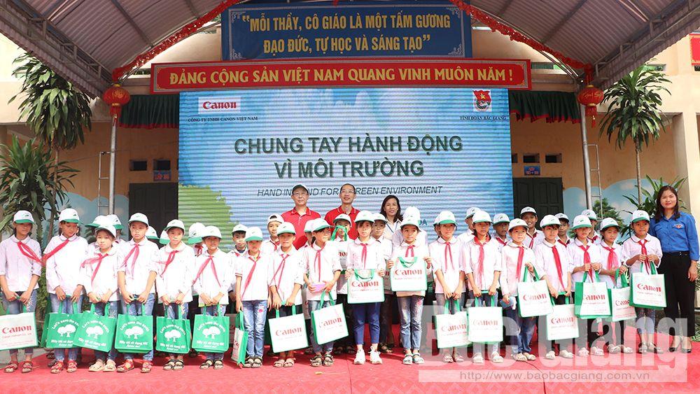 Tỉnh đoàn Bắc Giang, Công ty TNHH Canon Việt Nam, chương trình Chung tay hành động vì môi trường