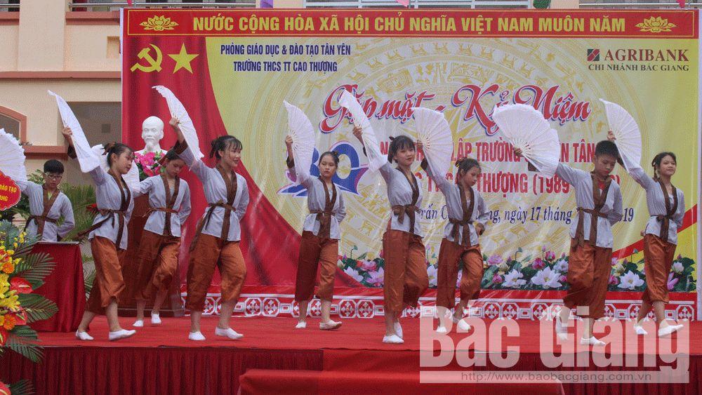 Trường THCS thị trấn Cao Thượng; Tân Yên; kỷ niệm