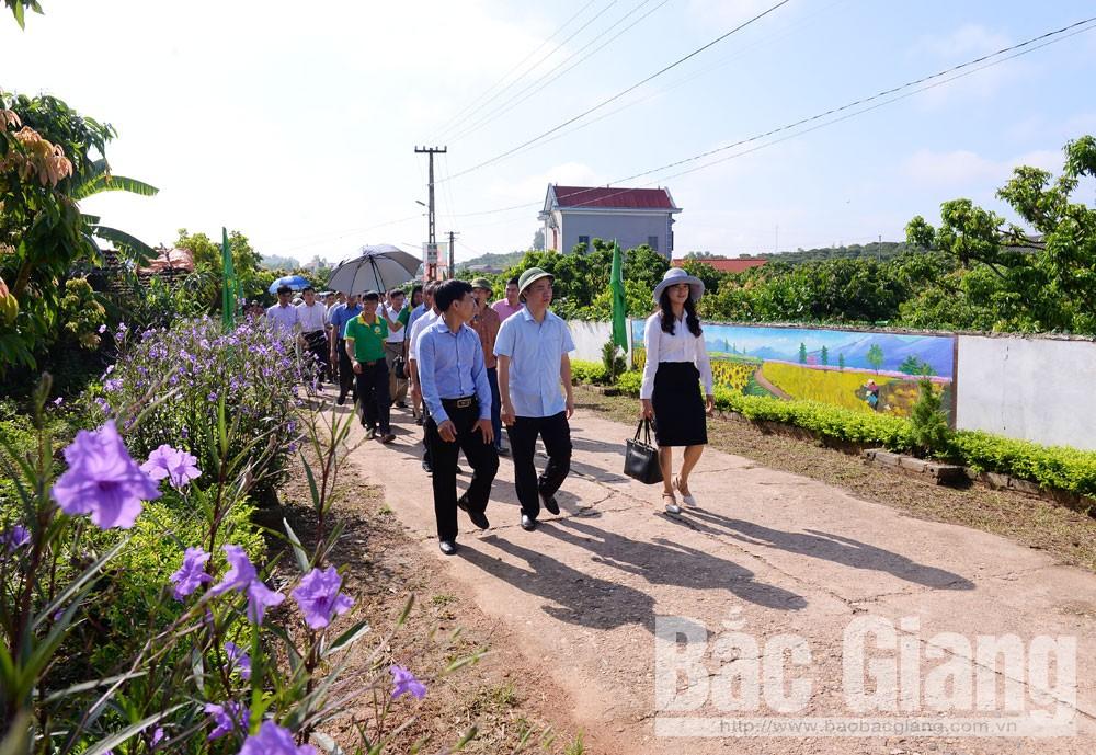 nông thôn mới, thôn nông thôn mới kiểu mẫu, Bắc Giang, tặng thưởn thôn nông thôn mới