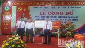 Đạt chuẩn nông thôn mới, xã Tân Thanh (Lạng Giang) được thưởng 200 triệu đồng