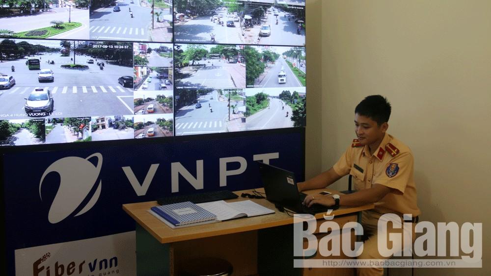 Hệ thống camera giám sát an ninh tại Công an TP Bắc Giang.
