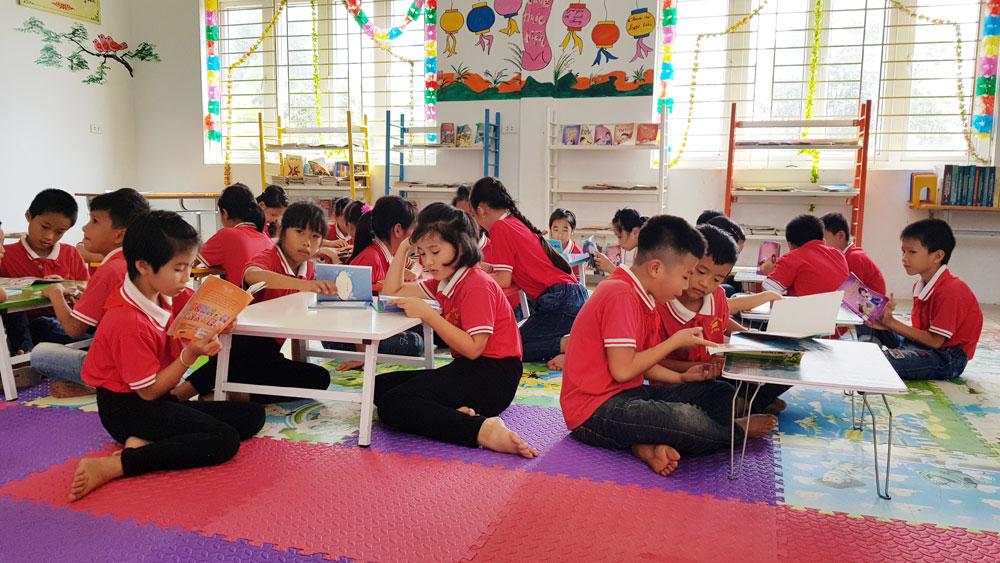 Thư viện tỉnh Bắc Giang, đầu sách, Trường Tiểu học xã Ngọc Vân, huyện Tân Yên, Tân Yên