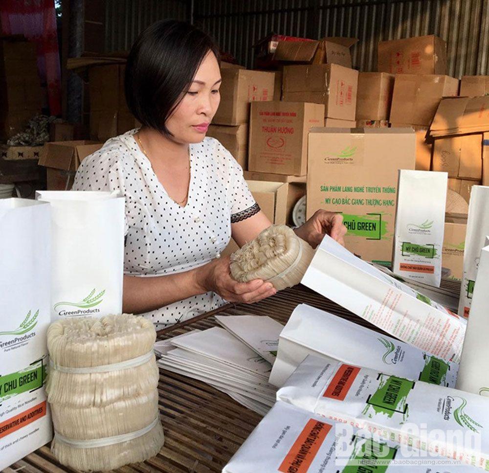 bao bì, nhãn mác, gắn tem truy xuất nguồn gốc, Sở Công Thương Bắc Giang, nông sản