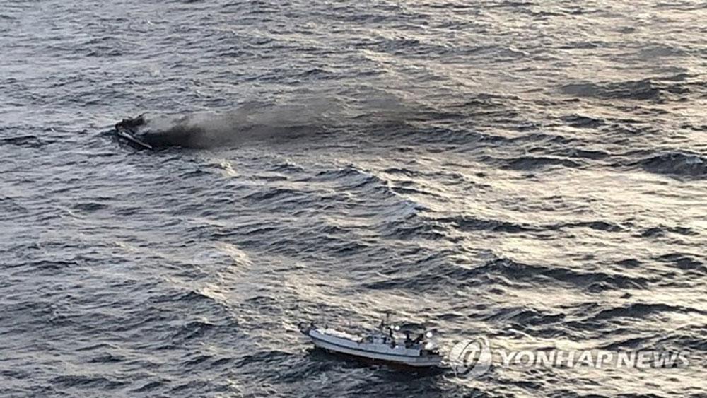 Sáu thuyền viên Việt Nam, mất tích ngoài khơi, đảo Jeju (Hàn Quốc), vụ cháy tàu