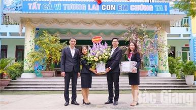 Agribank Chi nhánh Bắc Giang II: Đẩy mạnh tuyên truyền nói không với rác thải nhựa trong trường học